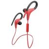 Bluetooth sztereó headset, sportoláshoz, Vennus, BT-1, piros