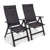Blumfeldt London, kerti szék, 2 darabos szett, textilén, alumínium, 6 pozíció, összecsukható