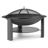 Blumfeldt Mithras tűzrakó tál, Ø75cm, szikrafogó, Ø60cm-res grill rostély, acélöntvény