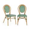 Blumfeldt Montpellier GR, bisztró szék, egymásra rakhatók, alumínium keret, polyrattan, zöld