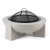 Blumfeldt Troja, cserép tűzhely, 75 cm-es átmérő, grill rostély, acél, égetett magnézium
