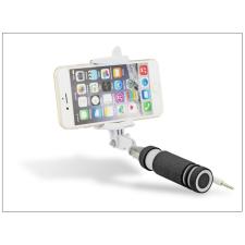 Blun Blun Selfie Holder szelfi bot exponáló gombbal, 3,5 mm jack csatlakozóval - fekete/fehér mobiltelefon kellék