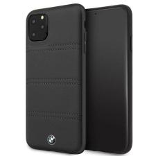 BMW Etui tok BMW BMHCN65PELBK iPhone 11 Pro Max fekete aláírás vízszintes vonalak telefontok tok és táska