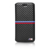 BMW iPhone 6/6S M Sport Carbon Inspiration Stripe Horizontal oldalra nyíló tok, fekete