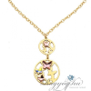 Boccadamo Jewels - Swarovski kristályos bronz nyakék - Arany pillangók