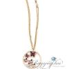 Boccadamo Jewels - Swarovski kristályos bronz nyakék - Lila pillangók