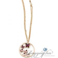 Boccadamo Jewels - Swarovski kristályos bronz nyakék - Lila pillangók nyaklánc