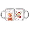 Bögre karácsonyra, mosolygó Rudolf szarvas