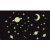Bolygók, hold és csillagok foszforeszkáló falmatrica