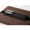 Bookchair Bőrből készült tolltartó tok és könyvjelző Bookchair Walden Fekete