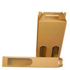 Bortartó papírdoboz, 2-es, sima, natúr villanyszerelés