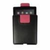 Bőrtok álló belebujtatós iPad 2, 3, 4-hez fekete-pink*