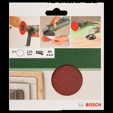 Bosch CSISZOLÓLAP 5DB D:125MM G:80 FÚRÓHOZ/SAROKCSISZOLÓHOZ csiszolókorong és vágókorong