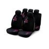 Bottari My Flower Pink 9 részes üléshuzat szett, fekete-rózsaszín