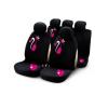Bottari My Sweet Cat 9 részes üléshuzat szett, fekete-rózsaszín