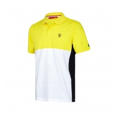 Branded Scuderia Ferrari pánské polo Póló Cut and Sew yellow F1 Team 2017 - S