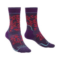 Bridgedale Női zokni Hike MW MP Boot Women's Szín: sötétlila/rózsaszín / Zokni mérete: 35-37