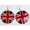 Brit zászlós karika fülbevaló