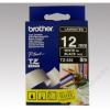 Brother Feliratozógép szalag, 12 mm x 8 m, BROTHER, fekete-fehér (QPTTZ335)