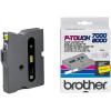 Brother TX-631, 12mm x 15m, fekete nyomtatás / sárga alapon, eredeti szalag