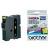 Brother TX-651, 24mm x 15m, fekete nyomtatás / sárga alapon, eredeti szalag