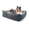 Brunolie Emma, kutyafekhely, kosár kutya részére, mosható, csúszásgátló, légáteresztő, kétoldalas matrac, párna, L méret (100 x 30 x 90)