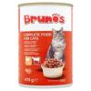 Brunos teljes értékű állateledel felnőtt macskáknak falatok baromfival és marhával szószban 415 g