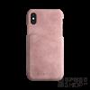 BUGATTI Londra Apple iPhone X valódi bőr hátlap tok kártyatartóval, rózsaszín