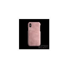BUGATTI Londra Apple iPhone X valódi bőr hátlap tok kártyatartóval, rózsaszín tok és táska