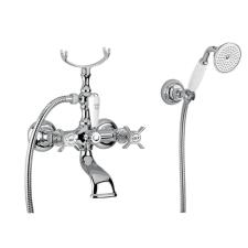 Bugnatese Princeton (802CR) króm kádcsaptelep Fix tartós zuhanyszettel csaptelep