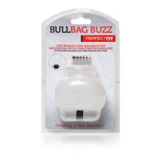 Bull Bag Buzz Vibrációs Herezsák és nyújtó (áttetsző) péniszköpeny