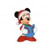 Bullyland 15442 Disney - Mickey egér: Minnie egér Karácsonyi öltözetben