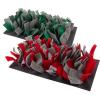 bunnyNature bunnyInteractive Snufflemat Felt - Red-Grey (15 x 28 cm) 120g