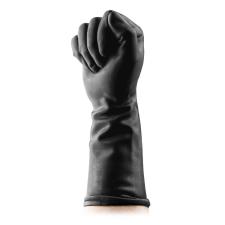 BUTTR Gauntlets - latex öklöző kesztyű (fekete) bilincs, kötöző