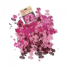 BWH Kislányos rózsaszín konfetti babaszületésre - 14 gramm konfetti