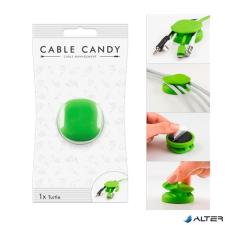 Cable Candy Kábeltartó CABLE CANDY teknős zöld kábel és adapter