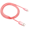 Canyon Charge  Sync MFI braided cable with metalic shell, USB to lightning, certified by Apple, 1m, 0.28mm, Rose-golden