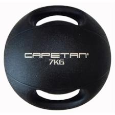 Capetan® 7Kg Professional Line Dual Grip kétfogantyús gumi medicinlabda (vízen úszó) - 7Kg Cross Tra medicinlabda