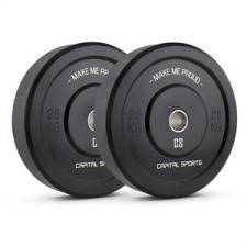 """Capital Sports Bumpee 25, 25kg, két súlytárcsa, """"Bumper"""" típusú"""