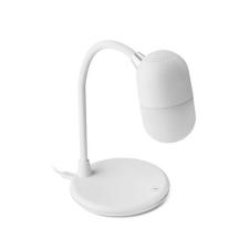 CAPUSLA Vez.n. töltős lámpás hangszóró , fehér elemlámpa