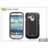CASE-MATE Samsung i8190 Galaxy S III Mini hátlap - Case-Mate Barely There Brushed Aluminium - silver