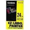 Casio XR-24YW1, 24mm x 8m, fekete nyomtatás / sárga alapon, eredeti szalag