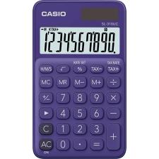 """Casio Zsebszámológép, 10 számjegy, CASIO """"SL 310"""", lila számológép"""