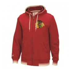 CCM Chicago Blackhawks Pulóver Full Zip Hood 2016 - XXL,(EU)