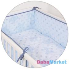 CEBA ágynemű huzat rácsvédővel 100x135 60x40cm Csillag kék Lux babaágynemű, babapléd