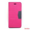 CELLECT iPhone 7/8 oldalra nyiló tok, Pink
