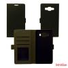 CELLECT Samsung Galaxy S6 edge+ oldalra nyiló tok, fekete