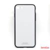 CELLECT Üveghátlapos szilikon tok, iPhone 8, Fehér