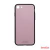 CELLECT Üveghátlapos szilikon tok, iPhone X, Pink
