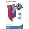 CELLULARLINE BOOK CASE univerzális könyvszerűen nyitható rózsaszín Phablet tok